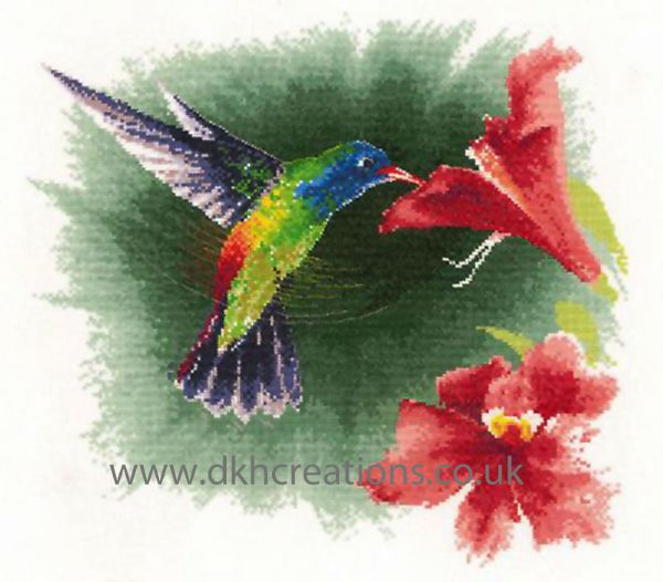 Hummingbird In Flight Cross Stitch Kit